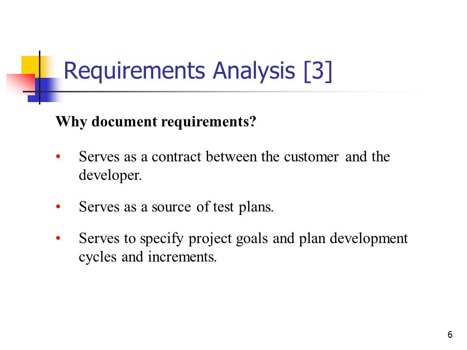Requirements Analysis [2]